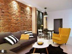Projekt mieszkania na wynajem w Zielonej Górze - Średni salon z jadalnią, styl skandynawski - zdjęcie od SAS Wnętrza i Kuchnie
