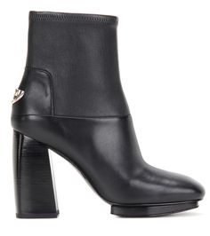 Sidney black leather ankle boots