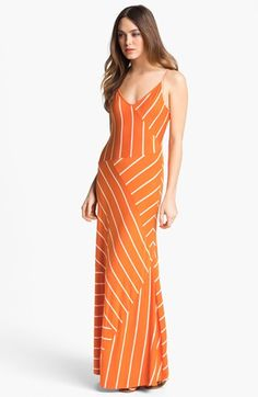 Summer nights in style Calvin Klein Stripe Jersey Maxi Dress available at #Nordstrom