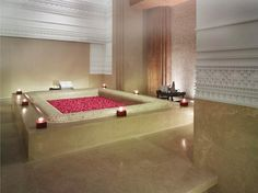 The much celebrated Jiva Grande Spa – themed on the Indian Baoli or Stepwell. http://www.vivantabytaj.com/surajkund #Spa #Wellness #JivaSpa #IndainTherapy #SurajKund