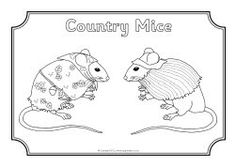 Town Mouse Country Mouse colouring sheets (SB8724) - SparkleBox