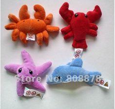 FREE SHIPPING Characteristic sea animals fridge magnet stick,paper fixture ,fridge magnet baby dolls,Baby Toys,40sets/lot $45.50