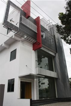 Nalini's Commercial Complex in Bangalore - Front Elevation View    Call (+91)-(80)-26612520 for more information or visit http://www.ashwinarchitects.com