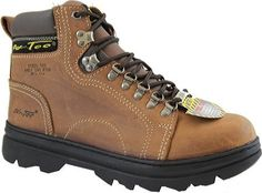 Ad Tec Womens Crazy Horse Brown Hiker Work Boots with Steel Toe – Go Shop Shoes Leather Hiking Boots, Womens Boots On Sale, Steel Toe Work Boots, Brown Boots, Shoes Online, Shoe Boots, Men's Boots, Footwear, Crazy Horse