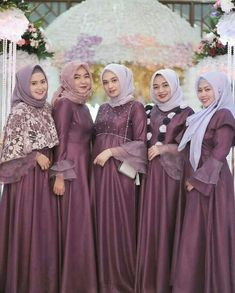 Gallery Beautiful Hijaber and Sexy - Sejuta Muslimah Dress Brukat, Hijab Dress Party, Hijab Style Dress, Batik Dress, Muslimah Wedding Dress, Hijab Wedding Dresses, Bridesmaid Dresses, Bridesmaids, Dress Brokat Muslim