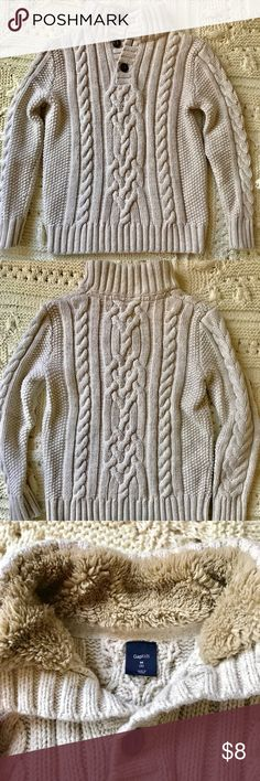 Gap kids Cable Knit Sweater - Boys Gap kids cable knit sweater size medium (8). Only worn a few times for pictures & special events. No stains or flaws. Smoke free home. GAP Shirts & Tops Sweaters