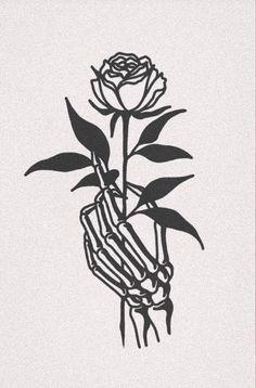 Ideas Tattoo Girl Skull Boys For 2019 Tattoo Sketches, Tattoo Drawings, Cool Drawings, Art Sketches, Rose Tattoos, Body Art Tattoos, New Tattoos, Small Tattoos, Tattoo Girls