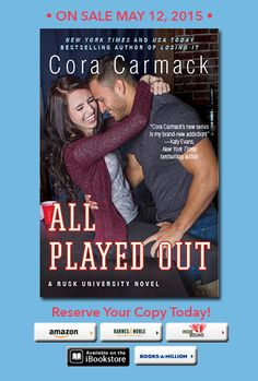 Romance and Fantasy for Cosmopolitan Girls: Cora Carmack's ALL PLAYED OUT - Cover Reveal