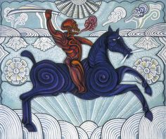 Saint Ciprian and his horse Wind Flower - Carlos Luna
