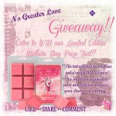 No Greater Love Limited Edition Prize Tart Giveaway  Open to: United States Ending on: 05/01/2016