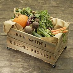 Personalized Crate ~ Vegetable Storage ~ these are so great!