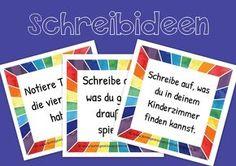 Schreibideen Kärtchen Deutsch Klasse 1 Grundschule