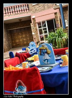 Smurfs Theme Kids Party Decor and Design.