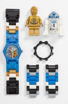 LEGO 'C-3PO' & R2D2' Watch & Toy