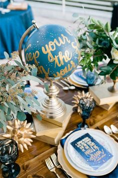 astrology inspired wedding tablescape - brides of adelaide