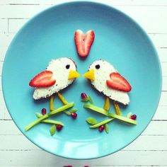 cute birds     #meals #kids #foods