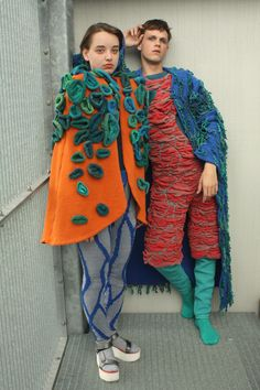 Outfits for Feel the Yarn 2018 / Ramona Teller  Yarnsponsor: DI.VE S.p.A. Designer, Feelings, Knitting, Clothing, Outfits, Textile Design, Fabrics, Kunst, Suits