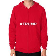 #Trump for President Men's Zip Hoodie