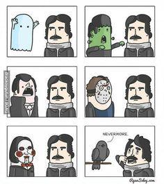 Edgar Allan Poe afraid of crow