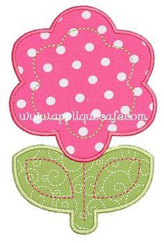 Flower 4 Applique Design