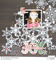 Winter Themed Scrapbook Layouts | 12X12 layouts | Scrapbooking Ideas | Creative Scrapbooker Magazine #winter #scrapbooking #12X12layout