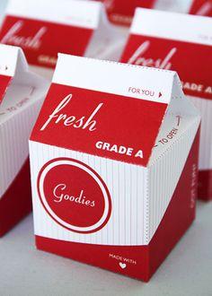 Milk Carton Favor Box (Red)  FREE