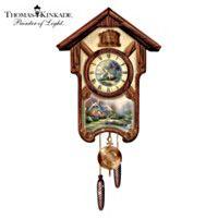 103166001 - Thomas Kinkade Timeless Memories Wall Clock