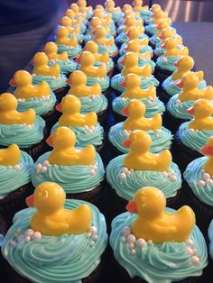 Duck cupcakes for Katie's shower