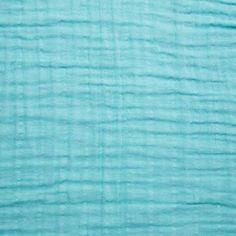 Tissu double gaze de coton Mint x10cm