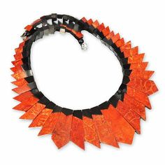 Egyptian Sponge Coral Necklace Geometric Statement by boylerpf, $115.00