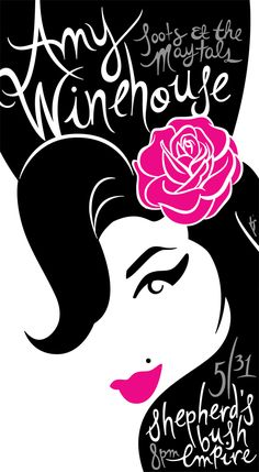Amy Winehouse poster by Bonnie Clas Amy Winehouse, Rock Posters, Band Posters, Concert Posters, Arte Pop, Graffiti Kunst, Pop Art, Frida Art, Poster S