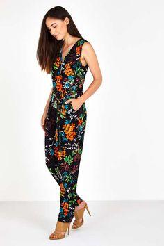Bright Floral Jumpsuit #wallisfashion