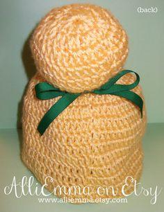 Crocheted Tinkerbell Hat. CUTE, CUTE, CUTE!!!