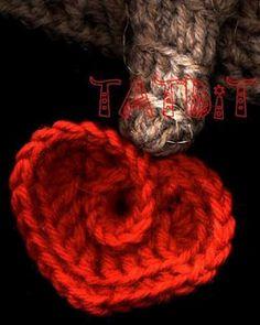 Corazón corazoncito con volumen, original ! .. ... ... ... innovart crochet: patterns..chart