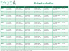 Body by Vi 90 Day Exercise Plan