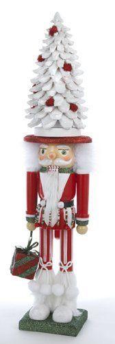 "22.25"" Hollywood Nutcracker Santa in White and Red Tree Hat Christmas Decoration by Kurt Adler, http://www.amazon.com/dp/B00EHYHWTW/ref=cm_sw_r_pi_dp_v4bKsb1QNQ2JE"