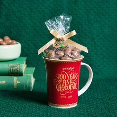 Christmas inspired Centenary Mug filled with Scorched Almonds. Delicious chocolate gift. #chocolate #gift #gifts #corporate #Haighs #Christmas #presents #Mum #Grandma #ChocolateLover http://www.haighschocolates.com.au/chocolates/browse/#christmas-collection