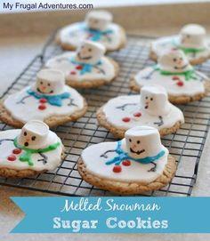 Des cookies bonhomme de neige... j'adore !