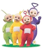 Teletubbies - okay, I'm decades too old for this show, but love it anyway. Can reconnect with that preverbal thing -- and I adore the laughing, smiling Sun Baby.