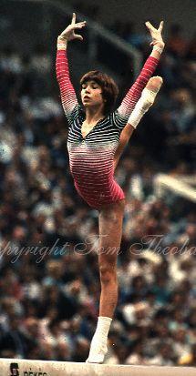 Maxi Gnauck | October 23, 1983; Budapest, Hungary; Artistic gymnast Maxi Gnauck of ...