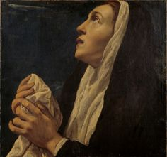 Mary Magdalene / María Magdalena // 1616 // Luis Tristán // This delicate female figure has been identified as Mary Magdalene before Christ on the cross. The work formed part of the altar piece of the parish church of Yepes (Toledo), together with Saint Monica
