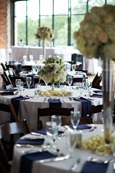 Image result for navy blue+silver wedding tables