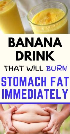 Banana Drink That Will Burn Stomach Fat Immediately – Healthy Life Juice Smoothie, Smoothie Recipes, Smoothies, Flat Tummy Tips, Stomach Fat Loss, Flatten Tummy, Banana Drinks, Fat Burning Foods, Diet Drinks