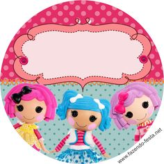 Lalaloopsy free printable toppers or candy bar label.