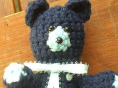 Mr Blue bear by MarysDollclothesandm on Etsy