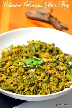 Cluster Beans Stir Fry | Gawaarfali Sabzi