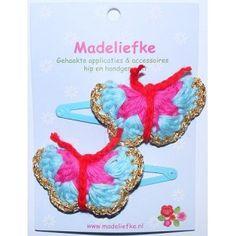 Madeliefke haarknipjes vlinder