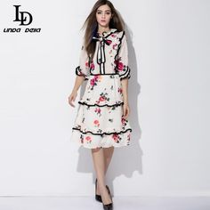 Autumn Women Casusl Dresses Runway Brand Florla Print Knee Length Dress $75.23   => Save up to 60% and Free Shipping => Order Now! #fashion #woman #shop #diy  http://www.clothesdeals.net/product/2016-autumn-new-women-casusl-dresses-runway-brand-florla-print-knee-length-dress