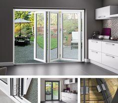 Aluminium Bi-fold Doors | Bifold Door Solutions Concertina Doors, Folding Doors, Sun Room, Banff, King, Windows, Living Room, Kitchen, House