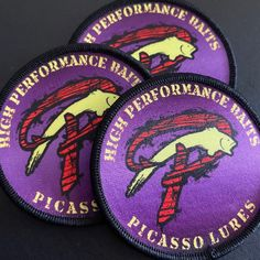 Awesome printed patches for High Performance Baits! Perfect for highly detailed artwork that won't render correctly in a woven patch. Custom Patches, Coming Out, Printed, Awesome, Artwork, Etsy, Going Out, Work Of Art, Be Awesome